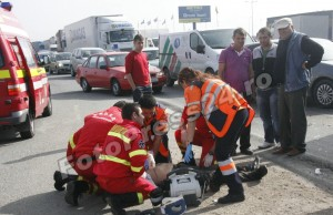 accident zona metro semafor