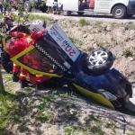 Autoturism răsturnat în șanț în localitatea Valea Mare Pravăț (6)