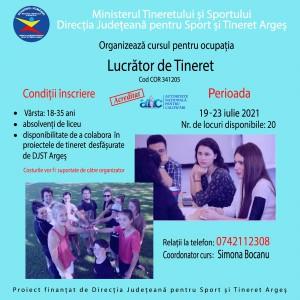 cursul de formare LUCRATOR DE TINERET