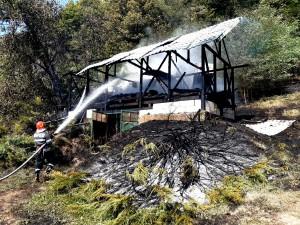 Incendiu comuna Băiculești, sat Manicesti